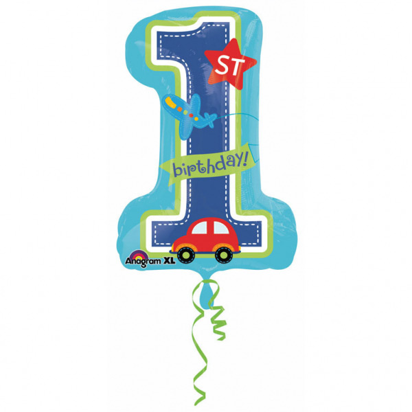 Balon folija SuperShape All Aboard Birthday